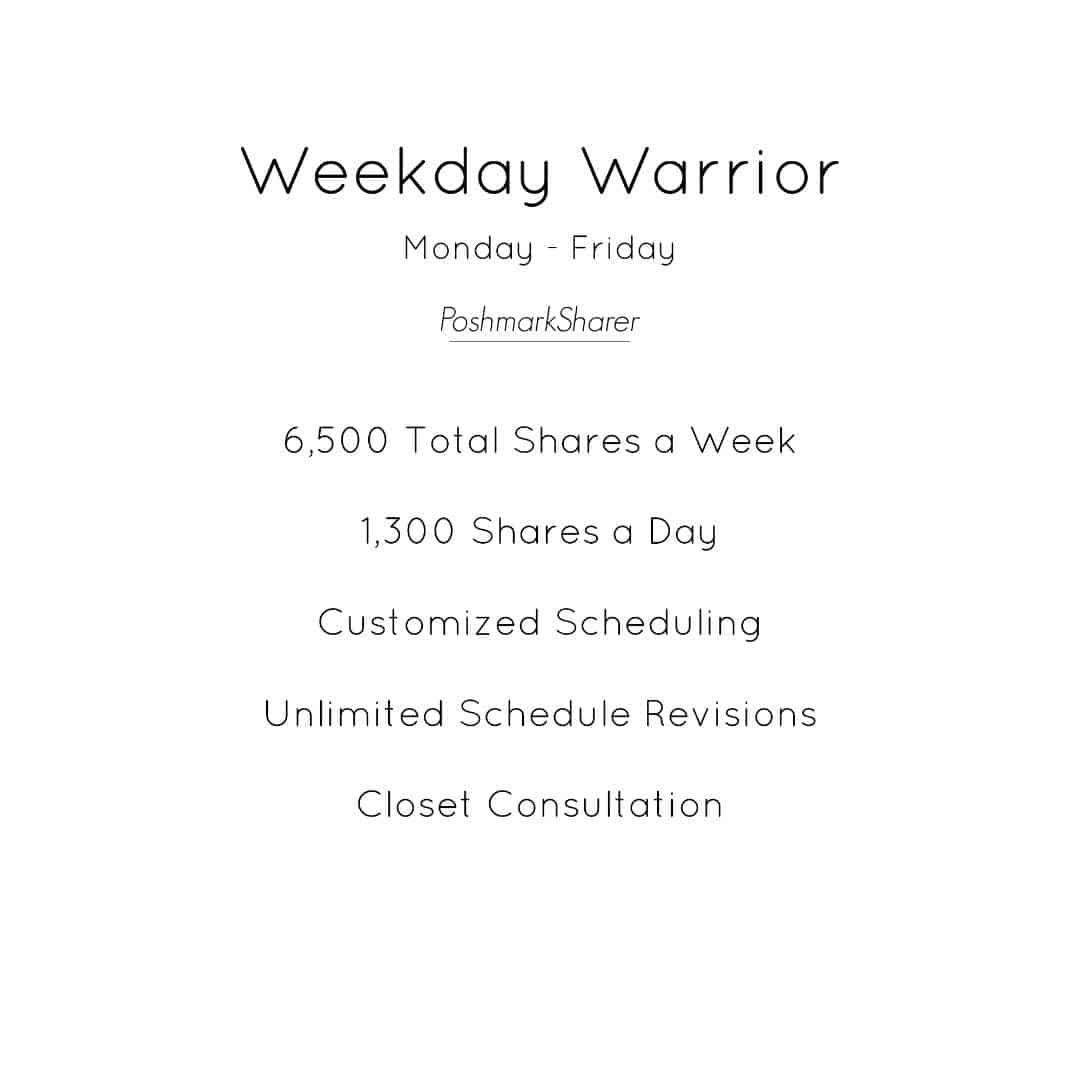 weekday warrior poshmark virtual assistant package
